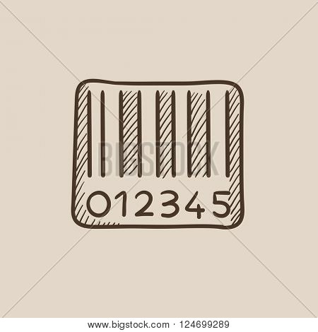 Barcode sketch icon.