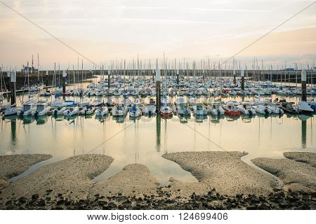 Sunset View Of The Marina, Le Havre