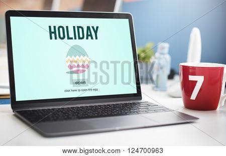 Easter Holiday Celebration Webpage Concept