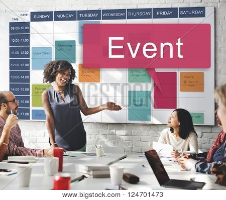 Event Happening Incident Occasion Schedule Concept