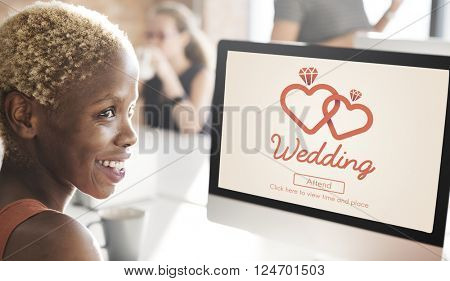 Wedding Love Married Happiness Romance Two Concept