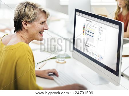 Contact Us Form Digital Web Page Concept