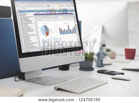 Spreadsheet Marketing Budget Report File Concept