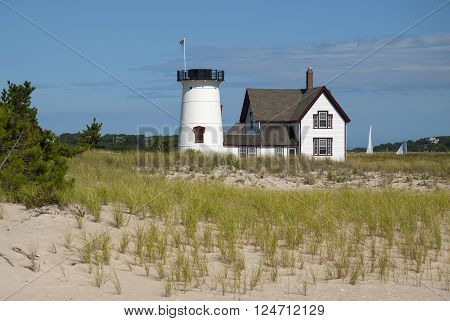 Stage Harbor lighthouse is the only lighthouse without its lantern on Cape Cod.