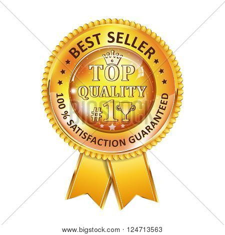 Best Seller. 100 % Satisfaction Guaranteed. Top Quality - golden ribbon. Award for excellence.