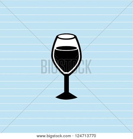 wine cup design, vector illustration eps10 graphic