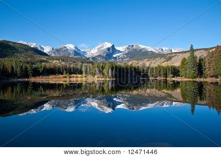 Sprague Lake view in Rocky Mountains National Park