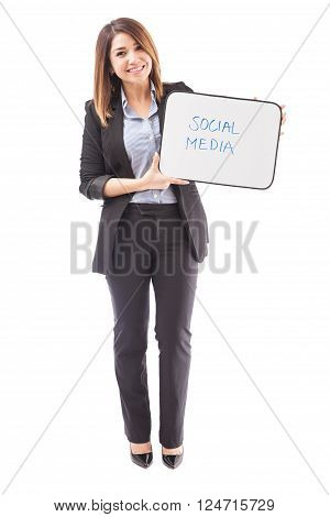 Social Media Text On A Whiteboard