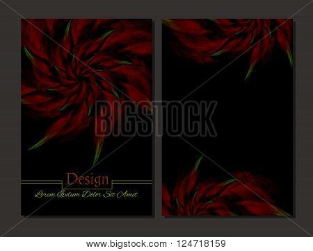 Set of vector design templates. Corporate Identity kit or business kit with artistic abstract colorful design for your business. Vector abstract booklet cover. Beauty brochure.