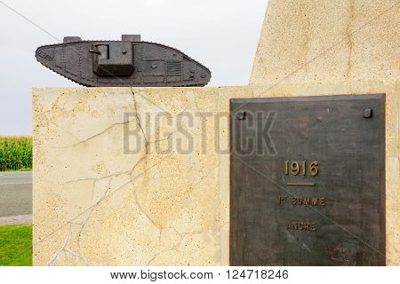Tank Corps Memorial, Somme