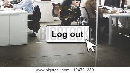 Log Out Online Technology Modern Interface Concept