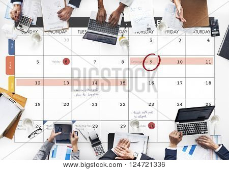 Calendar Planner Organization Management Remind Concept