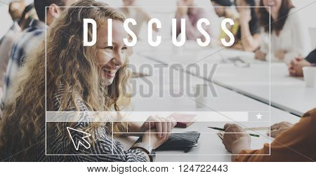 Discussion Conversation Talk Chat Concept