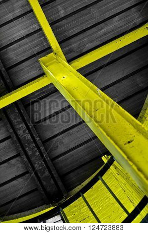 yellow steel support