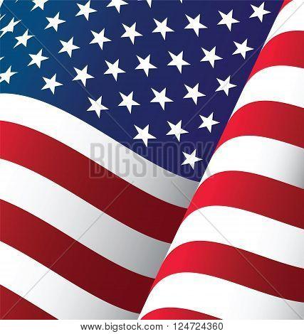 United States Waving Flag Background Clipping Mask