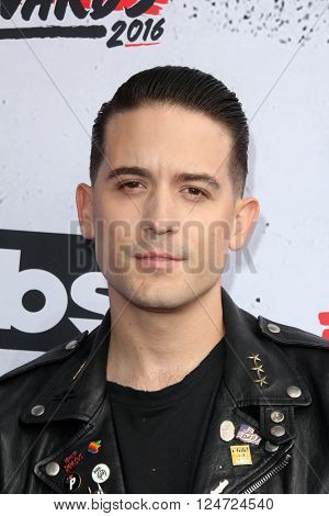 LOS ANGELES - APR 3:  G-Eazy at the iHeart Radio Music Awards 2016 Arrivals at the The Forum on April 3, 2016 in Inglewood, CA
