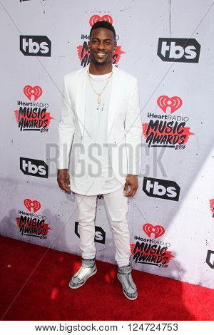 LOS ANGELES - APR 3:  Emmanuel Sanders at the iHeart Radio Music Awards 2016 Arrivals at the The Forum on April 3, 2016 in Inglewood, CA