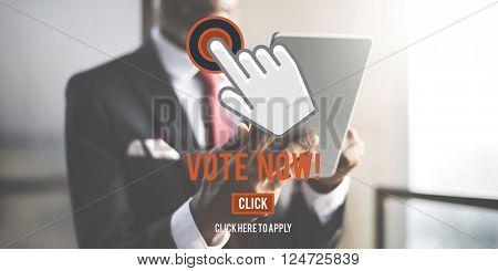 Vote Now Choice Decision Elect Political Poll Concept