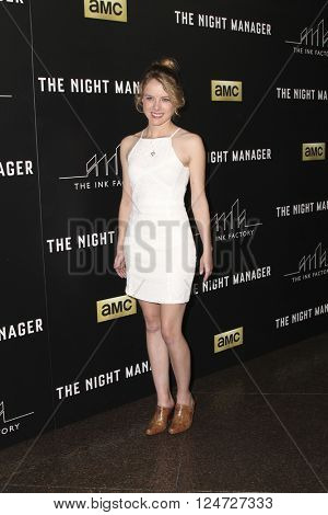 LOS ANGELES - APR 5:  Laura Slade Wiggins at the The Night Manager AMC Premiere Screening at the Directors Guild of America on April 5, 2016 in Los Angeles, CA