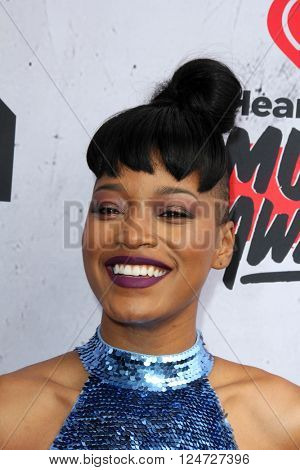 LOS ANGELES - APR 3:  Keke Palmer at the iHeart Radio Music Awards 2016 Arrivals at the The Forum on April 3, 2016 in Inglewood, CA