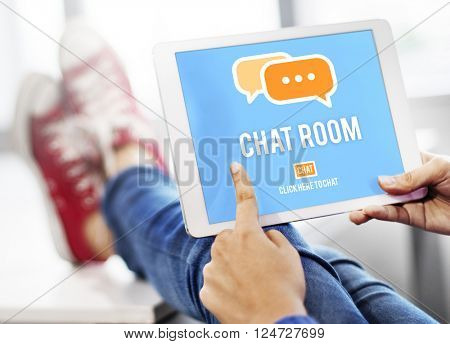 Chat Room Online Messaging Communication Connection Technology Concept