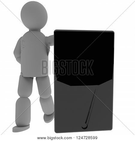 Puppet With Big Smartphone/tablet