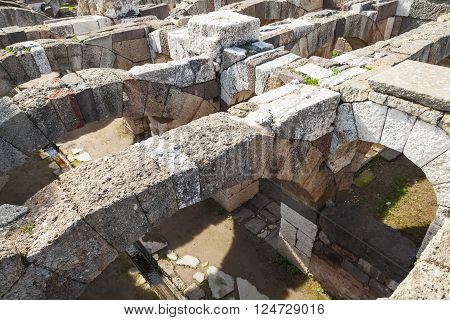 Arcs And Columns. Ruins Of Ancient Smyrna