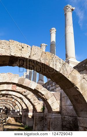 Ancient Columns And Arches. Smyrna, Turkey