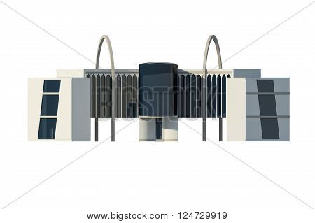 3D View Of Commercial Building