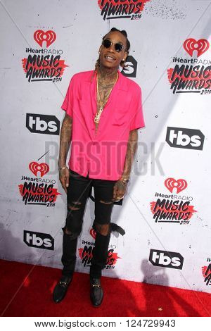 LOS ANGELES - APR 3:  Wiz Khalifa at the iHeart Radio Music Awards 2016 Arrivals at the The Forum on April 3, 2016 in Inglewood, CA