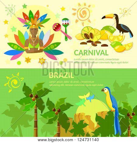 Brazil banners Brazilian Carnival Brazilian jungle Brazil