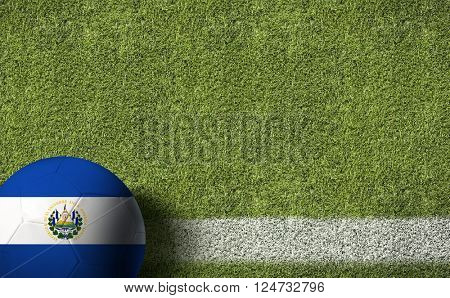 El Salvador Ball in a Soccer Field
