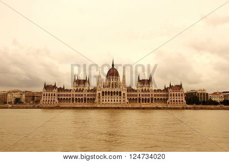 The Hungarian Parlament in Budapest, in Europe.