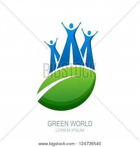 Vector Human Logo, Icon Or Emblem Design.