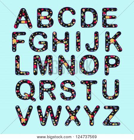 Alphabet Set Of Colorful Circle