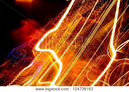 Smudged and blurry light stripes. Abstract background.
