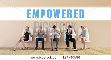 Business Empowered Being Discussed in a Group Meeting 3D Illustration