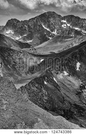 Mountain landscape in the Transylvanian Alps, Romania