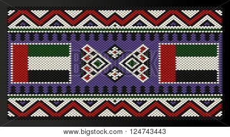 United Arab Emirates Flag Traditional Decorative Rug