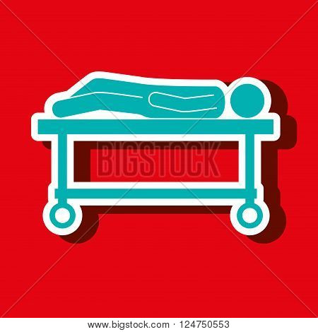 stretcher icon design, vector illustration eps10 graphic