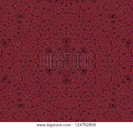 Abstract background with red lines concentric pattern