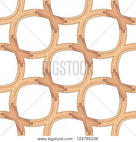 Wooden Toy Train Track Seamless