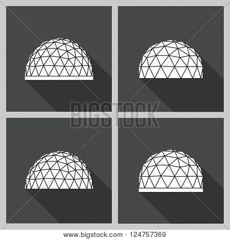 Abstract icon geodesic dome. Vector flat illustration.
