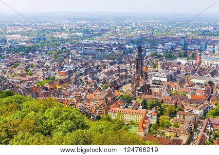 Aerial View Of Freiburg Im Breisgau, Germany