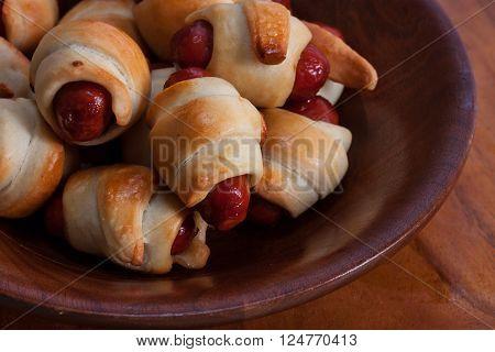 Pigs in Blankets - Mini Pretzel Crescent Dog snack food