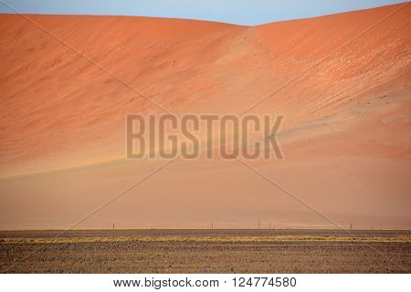 The Namib-Naukluft National Park is a national park of Namibia encompassing part of the Namib Desert (considered the world's oldest desert) and the Naukluft mountain range.