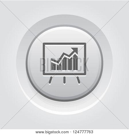 Business Analytics Icon. Grey Button Design. Business Concept