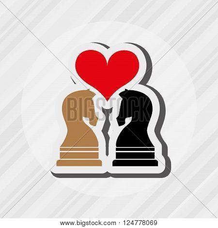 horse chess design, vector illustration eps10 graphic