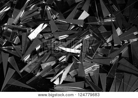 abstract of aluminum scraps in the factory ** Note: Soft Focus at 100%, best at smaller sizes