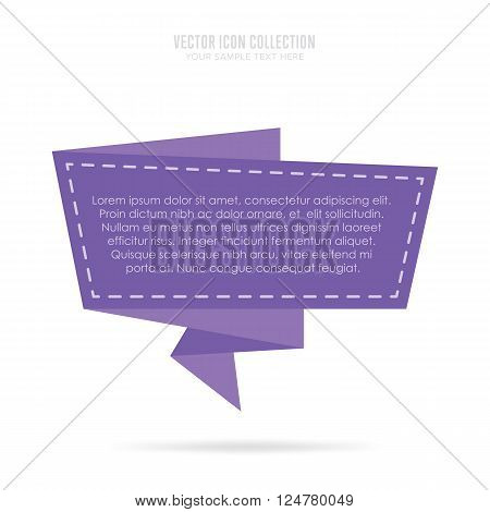 Origami banner. Isolated origami badge. Origami speech bubble. Speech bubble icon. Origami flat badge. Origami vector banner isolated. Abstract speech bubble. Origami banner concept. Speech bubble blank. Origami flat style. Origami speech bubble sticker.